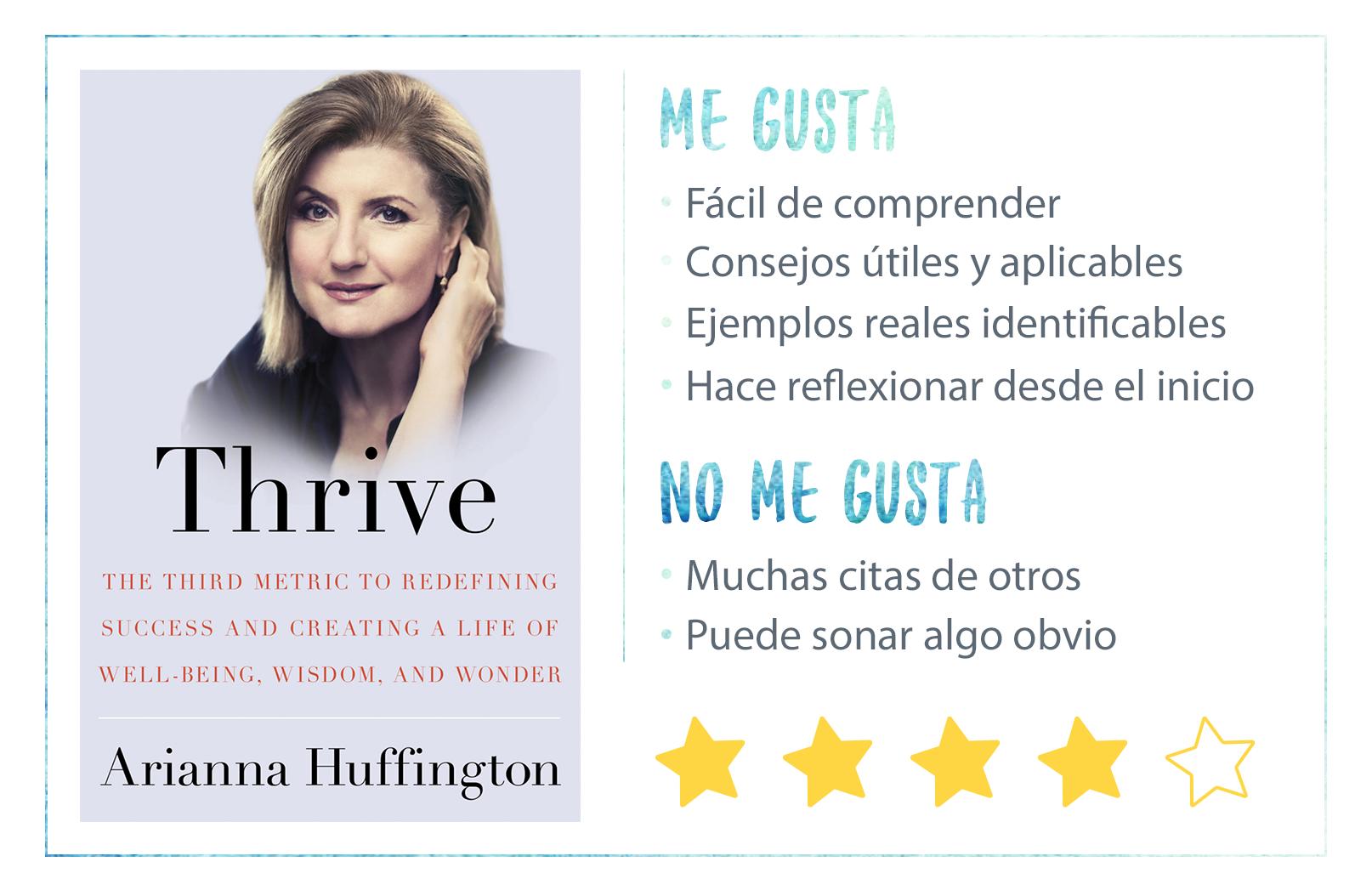 Nota del libro Thrive de Arianna Huffington