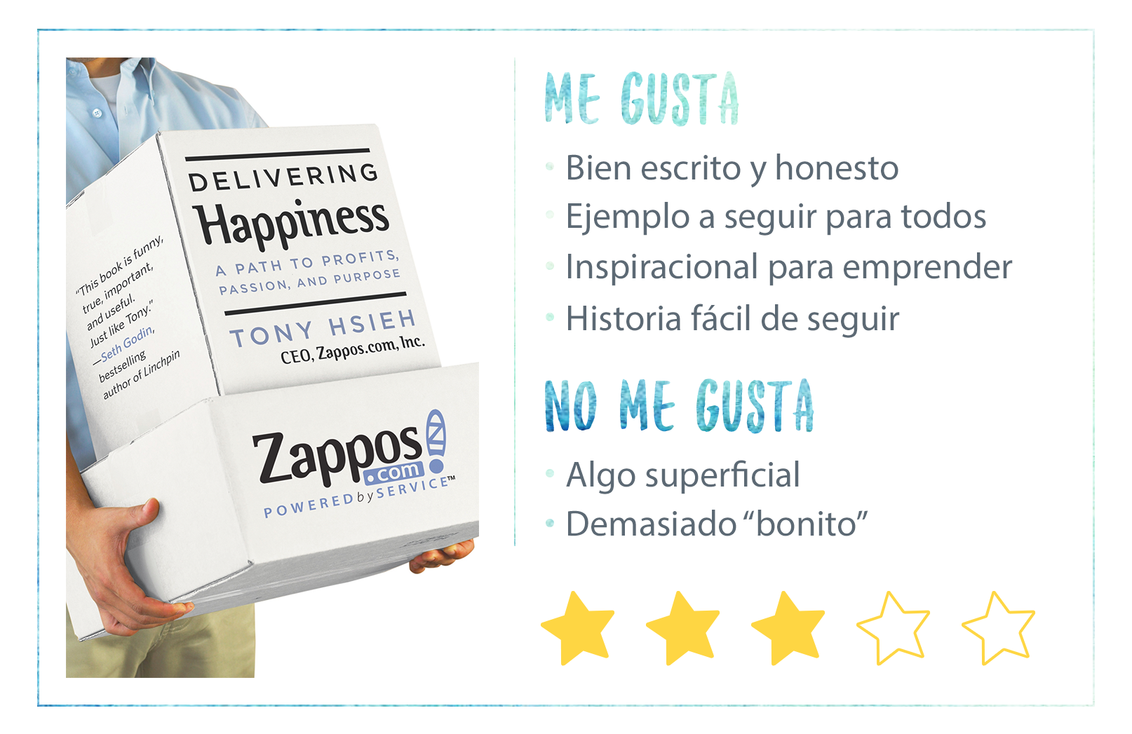 Nota Delivering Happiness de Tony Hsieh