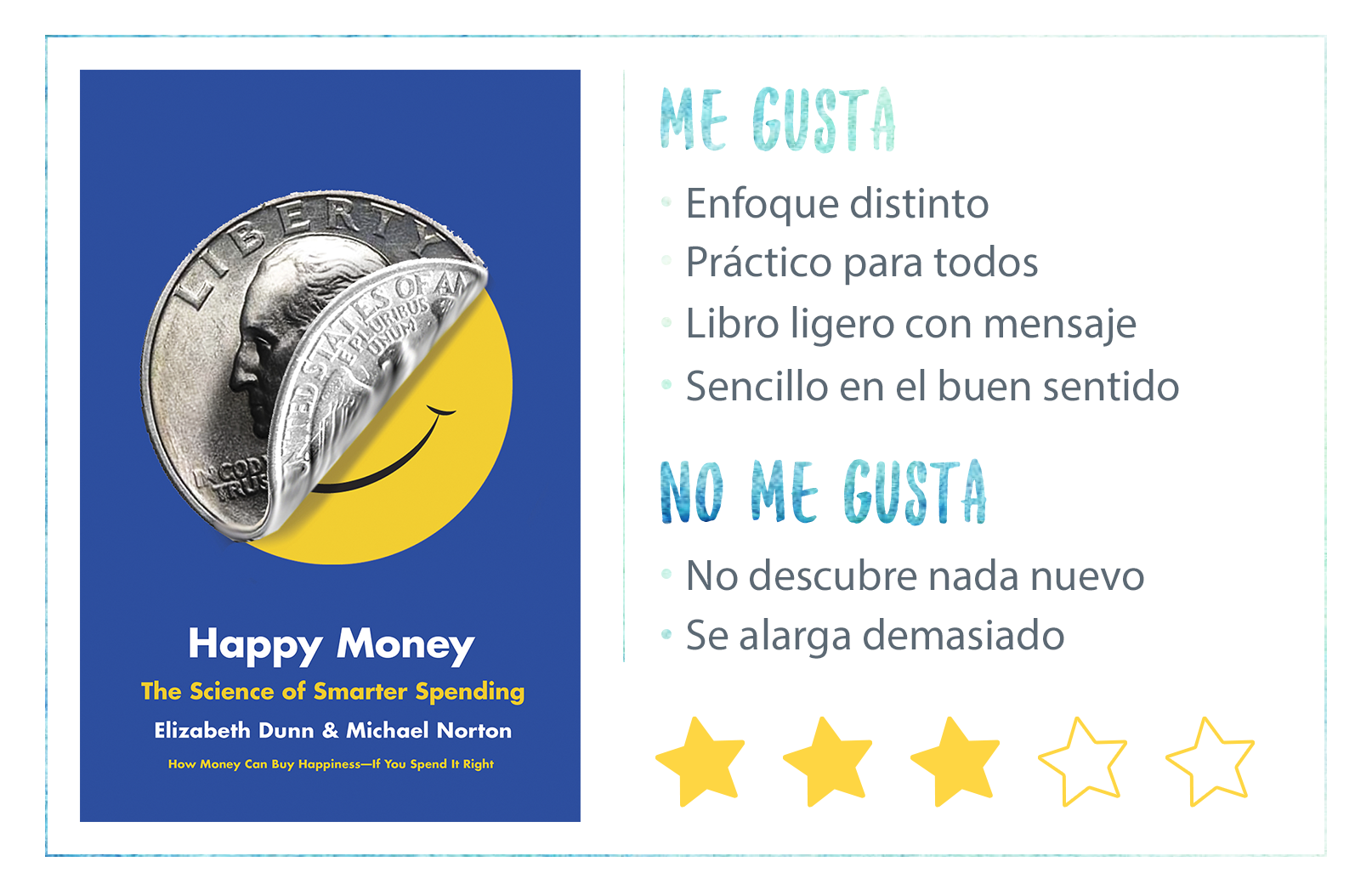 Nota Happy Money Elizabeth Dunn y Michael Norton