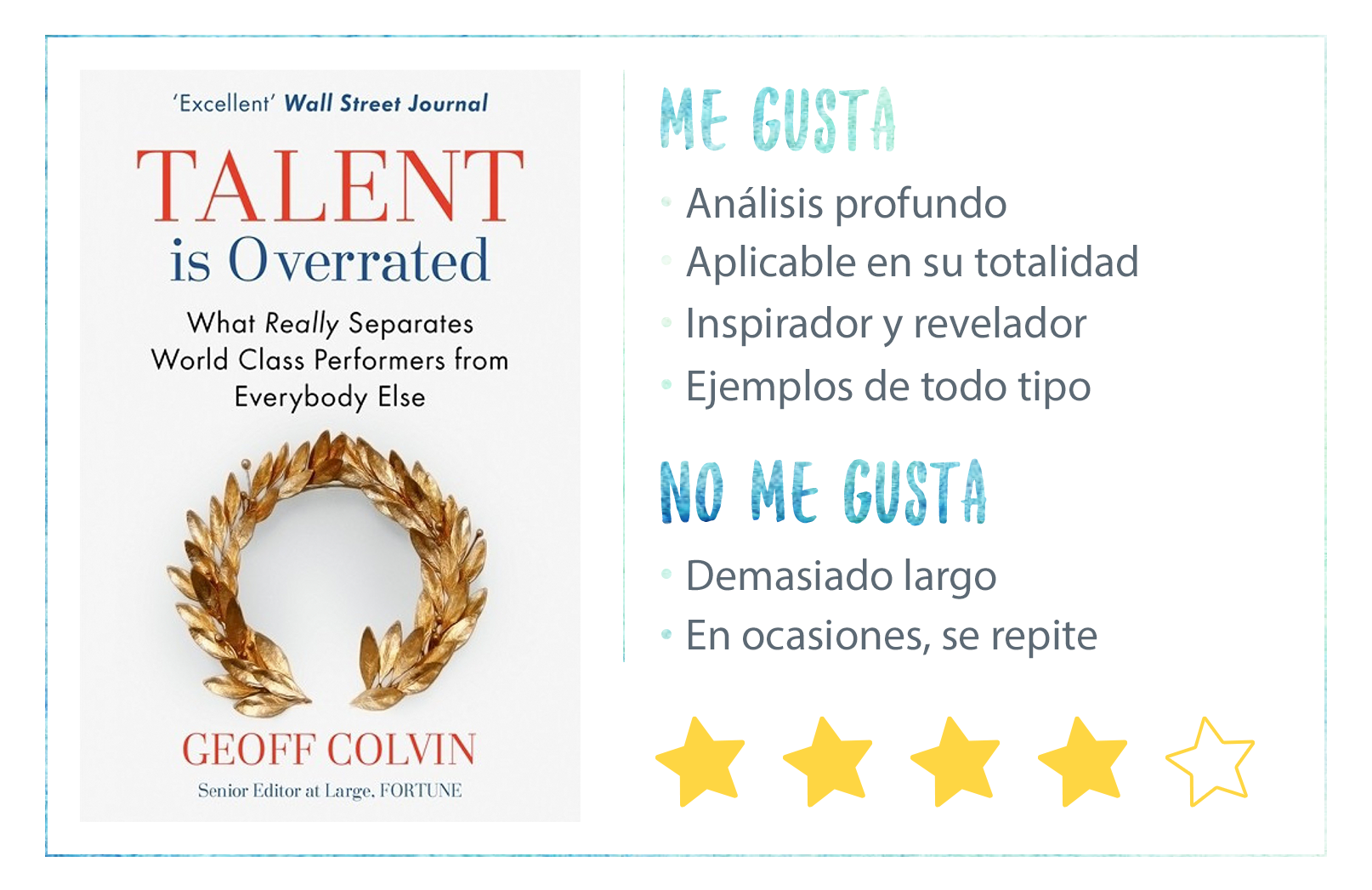 Nota Talent is Overrated de Geoff Colvin