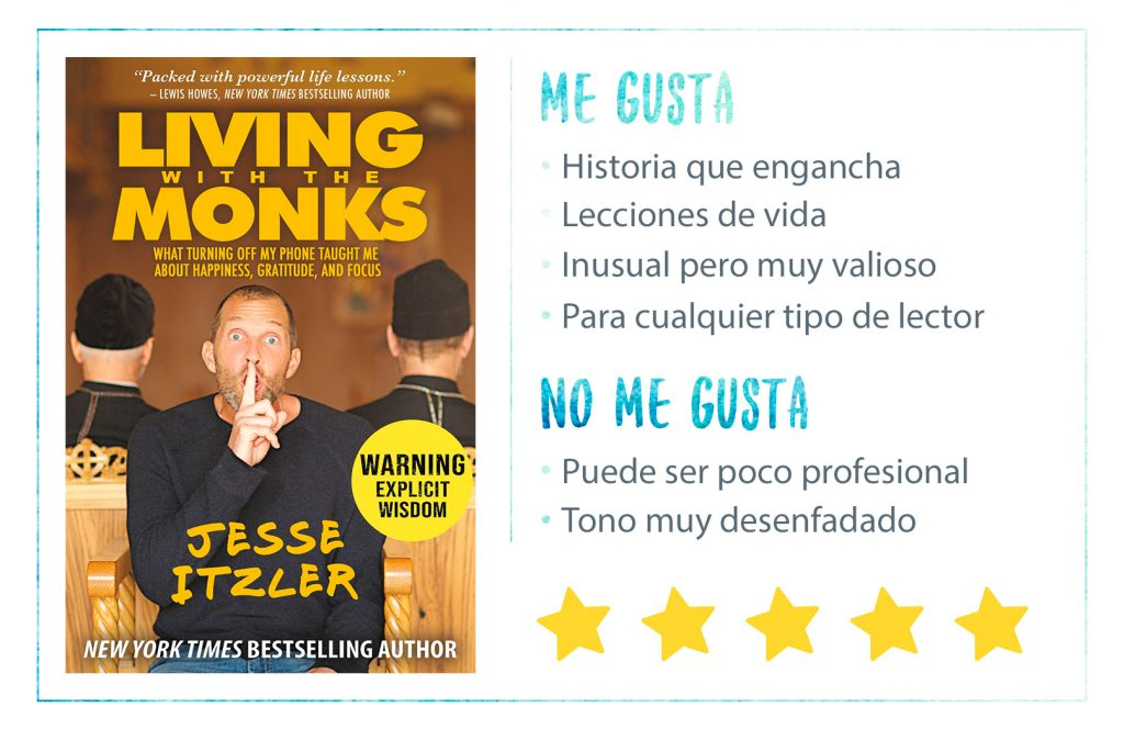 Comprar-libro-Living-With-The-Monks-Jesse-Itzler